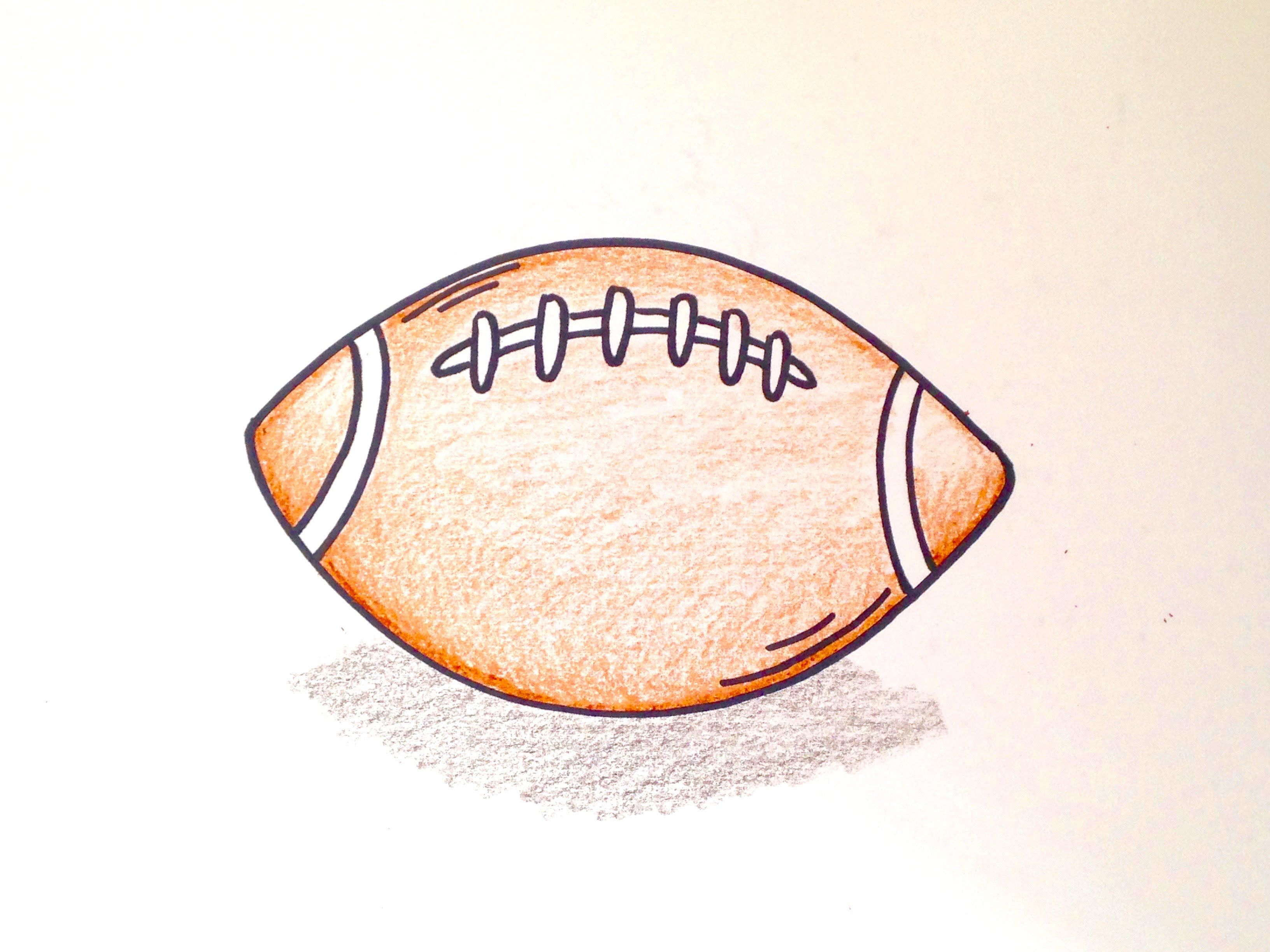3264x2448 Drawing Lesson How To Draw Football. Grab Paper, Crayons,nd