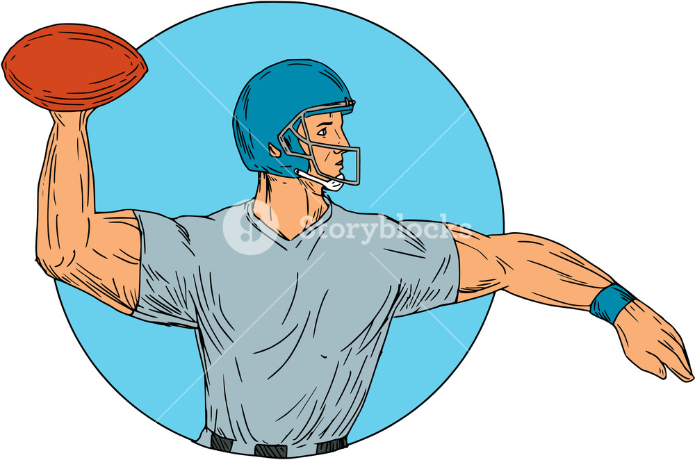 1000x662 Drawing Sketch Style Illustration Of An American Football Gridiron