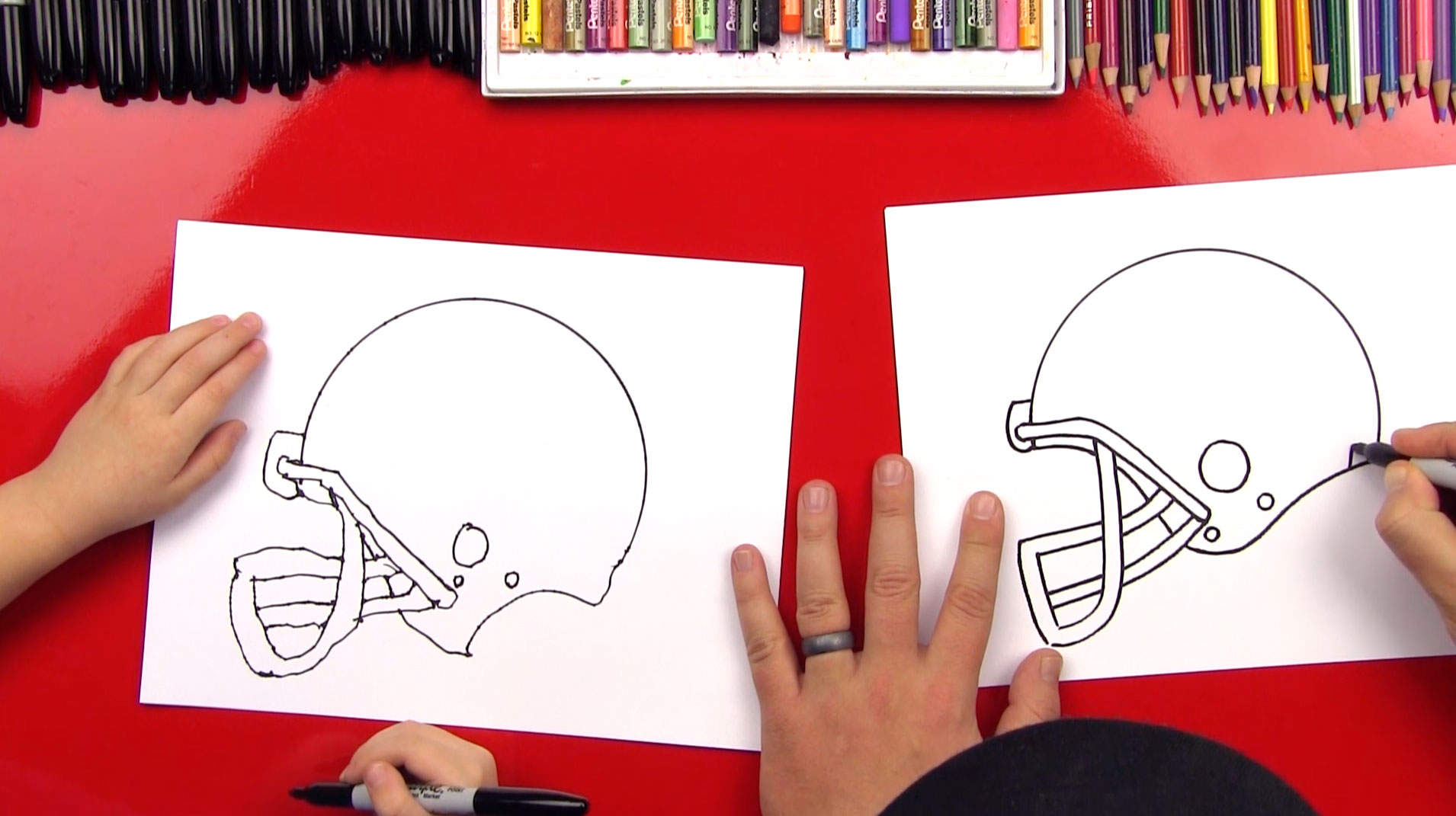 1910x1071 How To Draw A Football Helmet