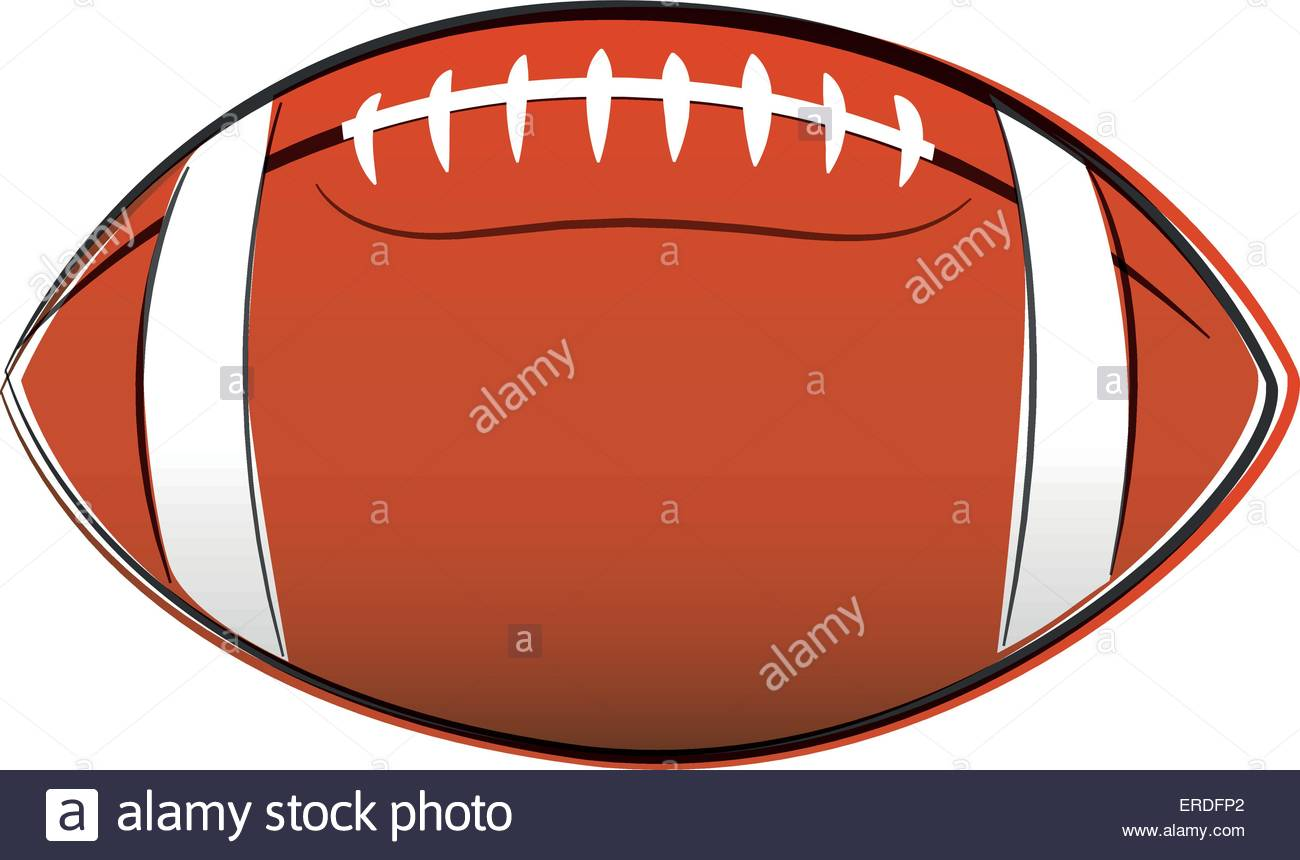 1300x860 Vector Illustration Of American Football Ball Drawing On White