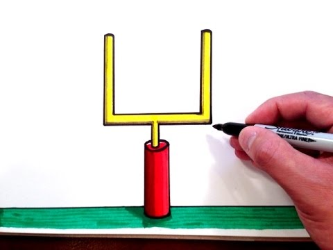 480x360 How To Draw A Football Field Goal