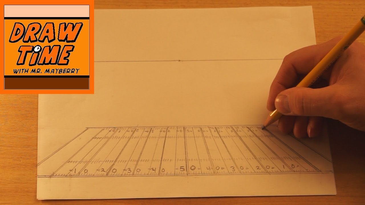 1280x720 How To Use One Point Perspective To Draw A Football Field