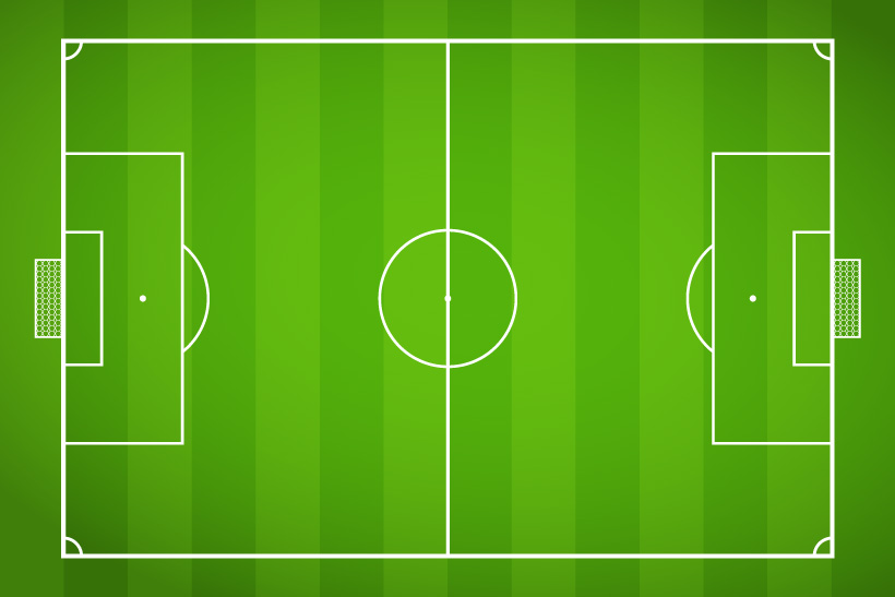820x547 Line Drawing Football Field Vector Free Vector Graphic Download