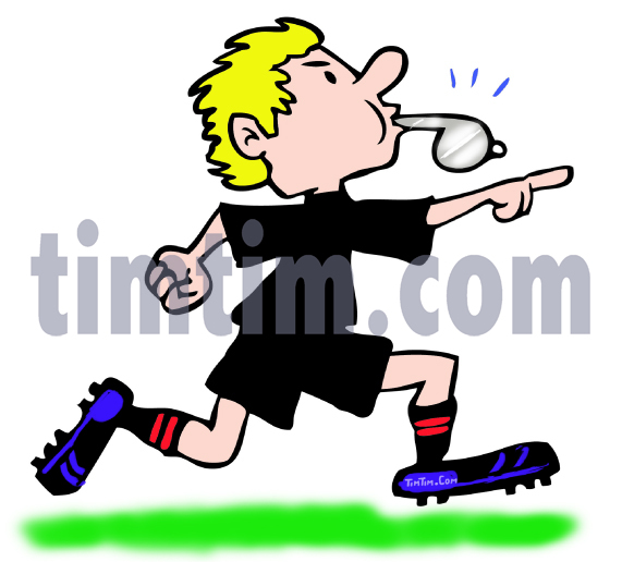 571x516 Free Drawing Of A Soccer Football Referee From The Category