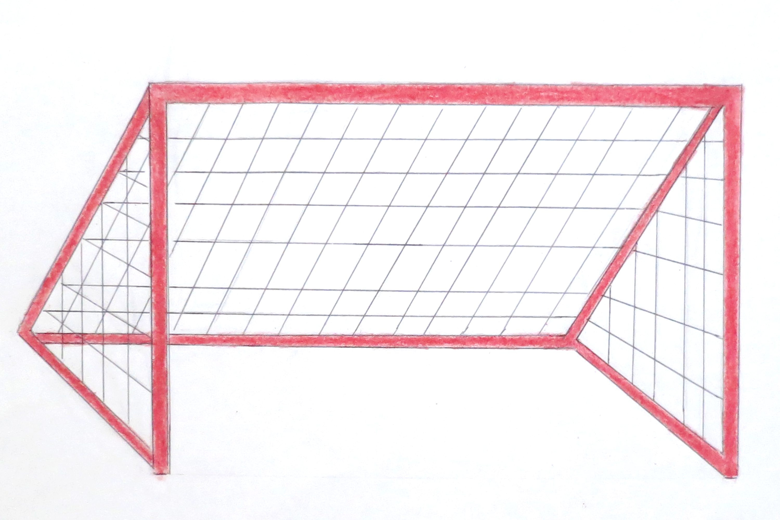 3000x2000 Drawing Of A Soccer Goal Best Free Soccer Goal With Ball Stock