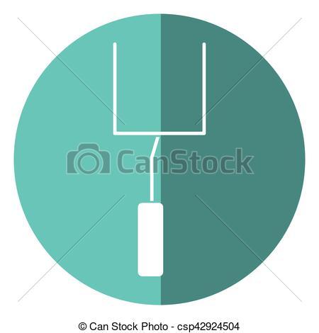 450x470 American Football Goal Post Shadow Vector Illustration Eps