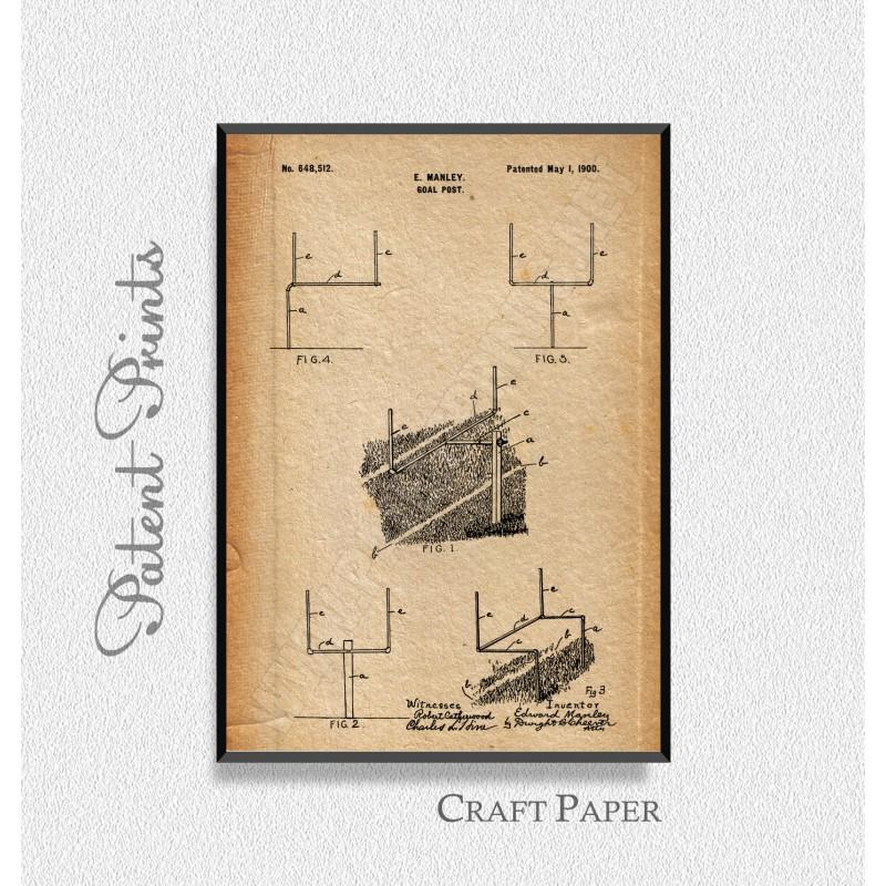 800x800 Football Goal Post Patent, Football Goal Post Print