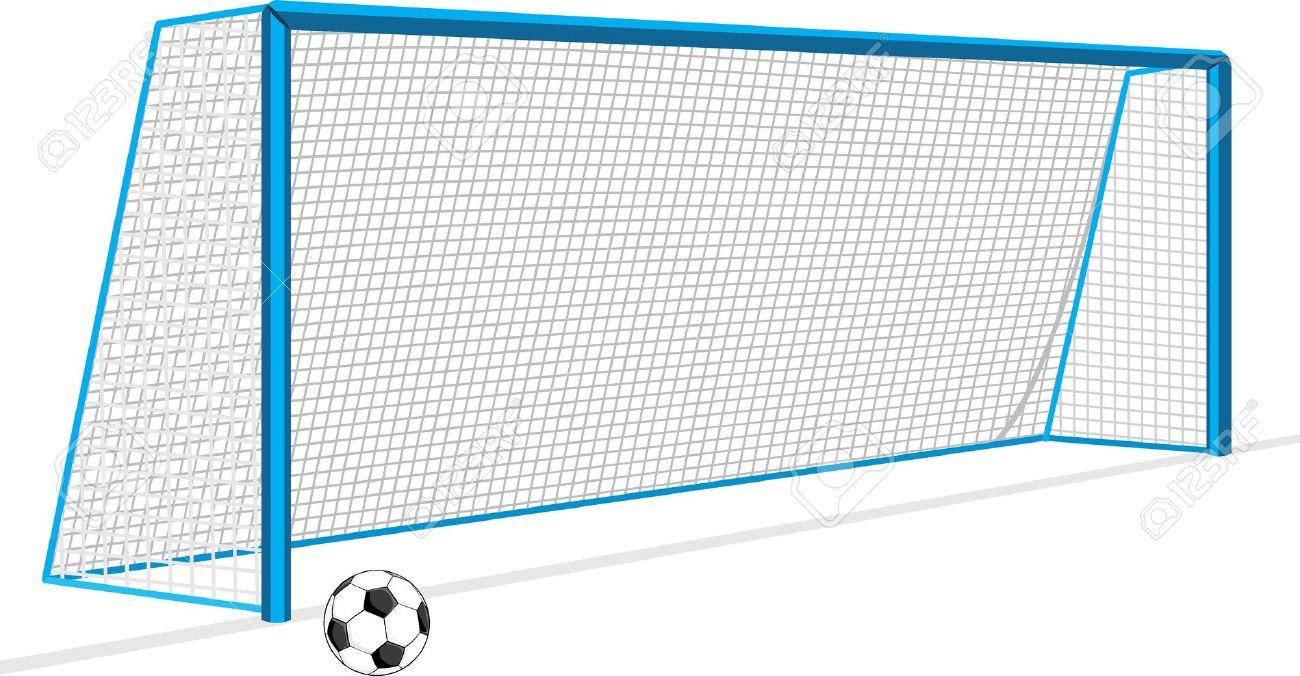 1300x676 Soccer Goal Drawing Drawn Ball Soccer Goal Post