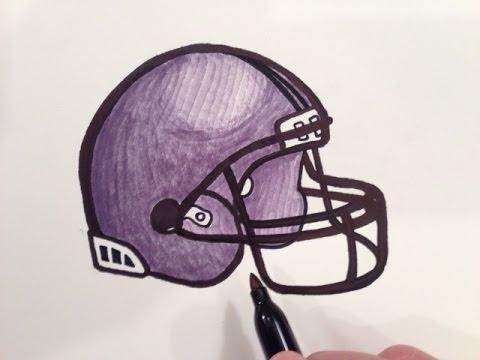 480x360 How To Draw A Football Helmet