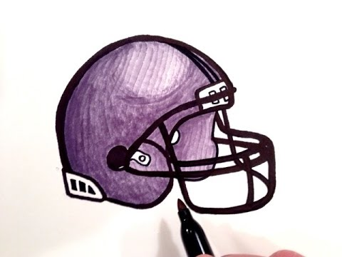 480x360 How To Draw A Football Helmet