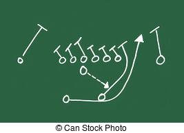 267x194 A Football Play On A Chalkboard Stock Illustrations. 87 A Football