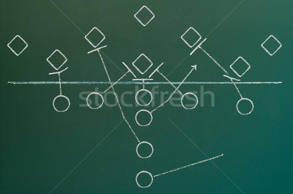 600x398 American Football Play Diagram Stock Photo Ivica Kljucar