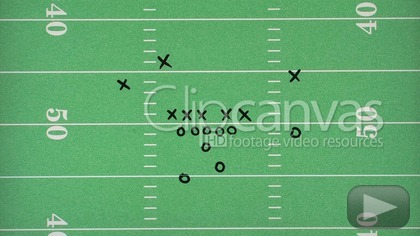 420x236 Football Play Drawing Stock Footage