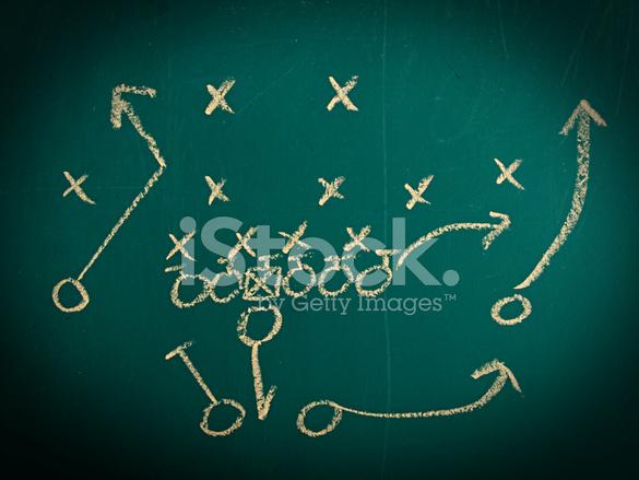 585x439 Football Play Drawing Stock Photos