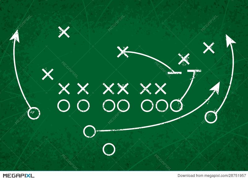 800x582 Football Strategy Play Illustration 28751957