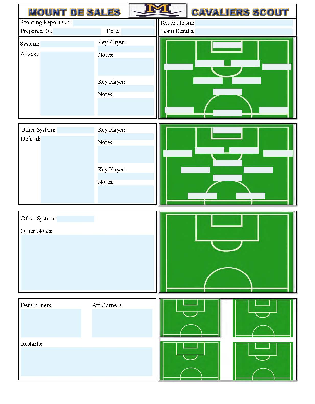 1233x1584 Soccer Scouting Template Other Designs Template