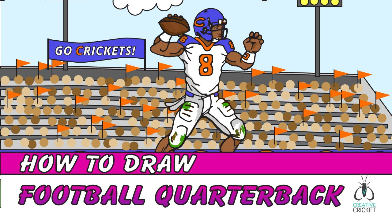 1280x720 How To Draw A Football Player Quarterback