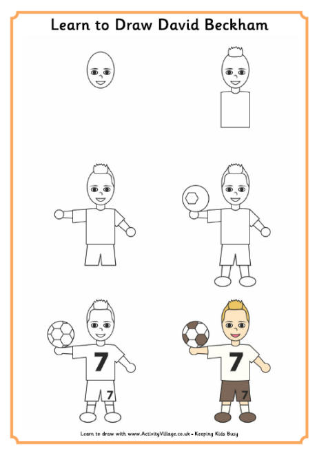 460x658 Learn To Draw A Football Player