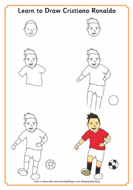 460x658 To Draw Ronaldo