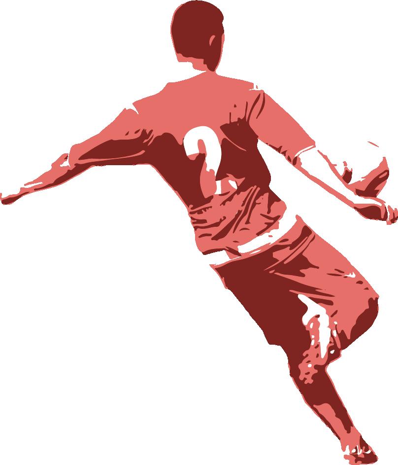 808x943 Football Player Drawing