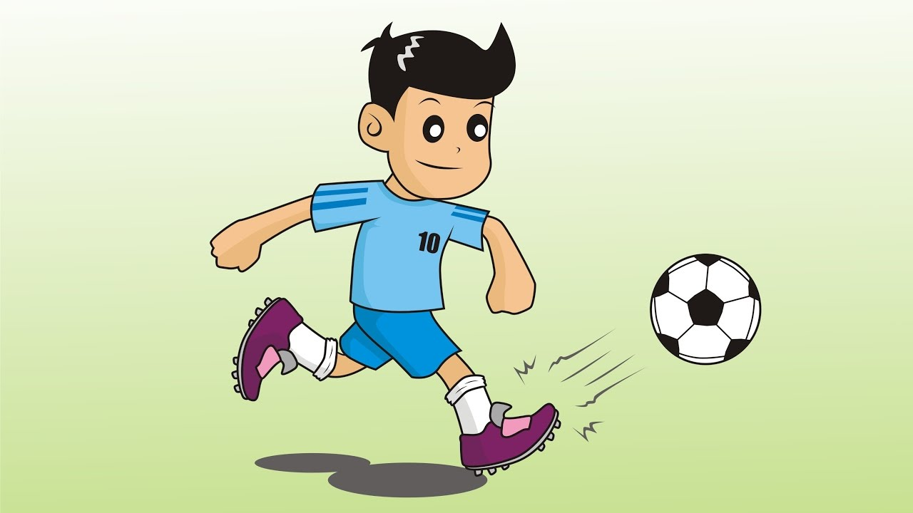 1280x720 How To Draw Cartoon Soccer Player