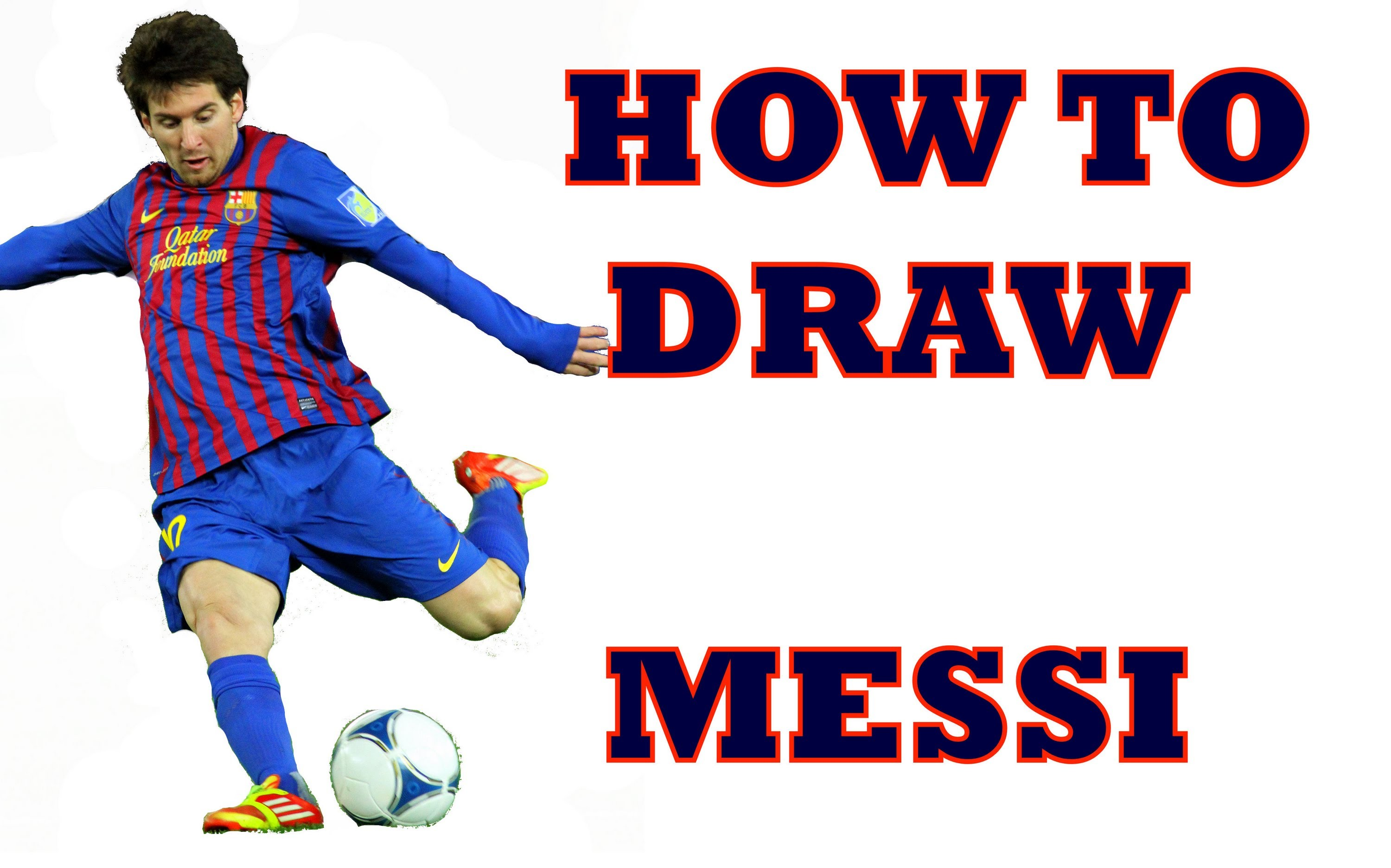 3000x1872 How To Draw Lionel Messi Step By Step