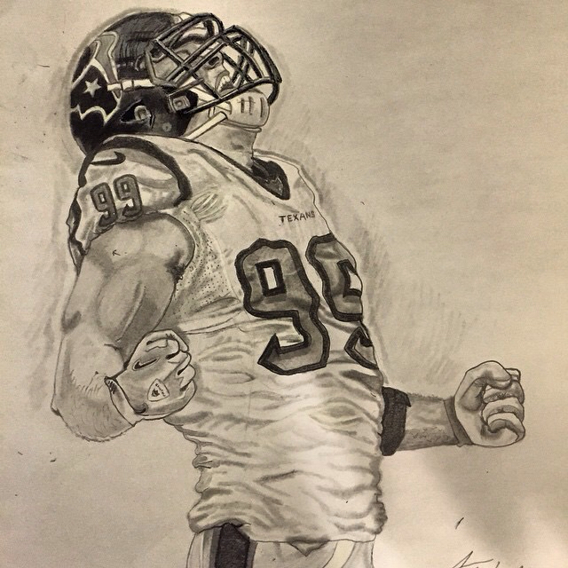 640x640 Jj Watt Drawing Athlete Drawings Jj Watt, Texans