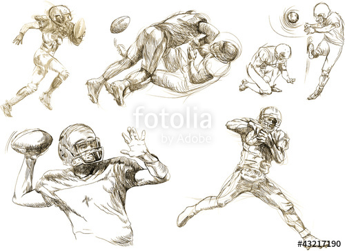 500x364 American Football Players Collection (Original Sharp Sketches
