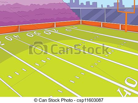 450x337 American Football Stadium. Cartoon Background. Vector Vector