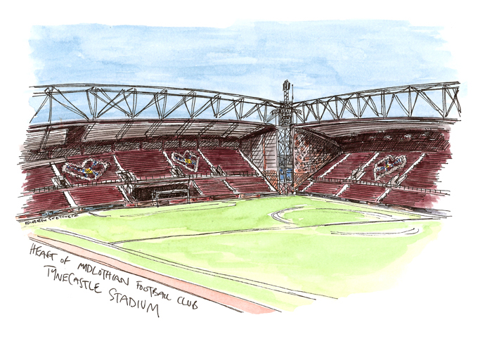 680x482 Edinburgh Sketcher A Tynecastle Sketch For Hearts Football Club