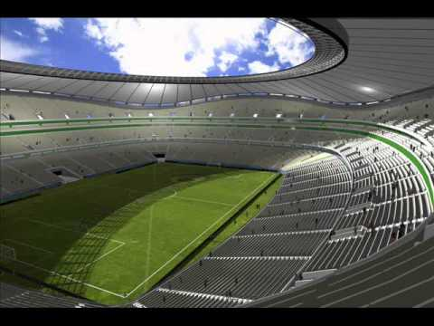 480x360 Football Stadium In Autocad 3d