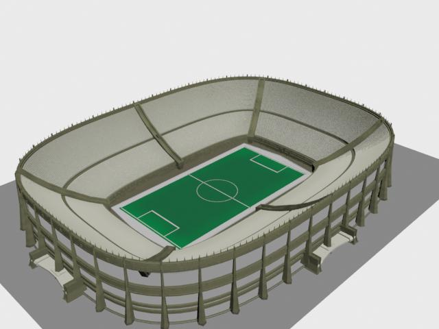 640x480 Football Stadium 3d Model 3ds Max,3ds Files Free Download