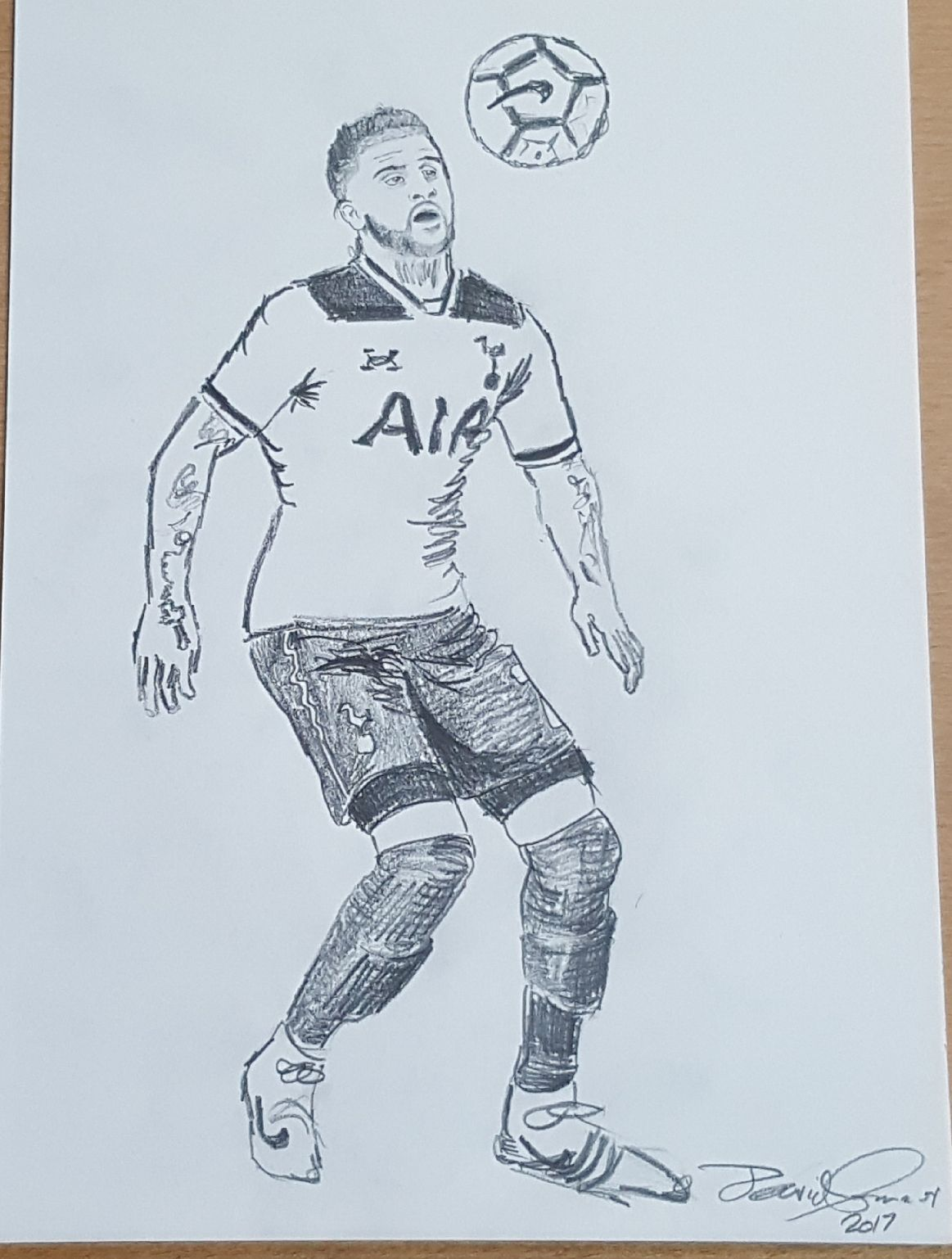 1163x1538 A Footballer By David Connor. An Original Pencil Drawing By David