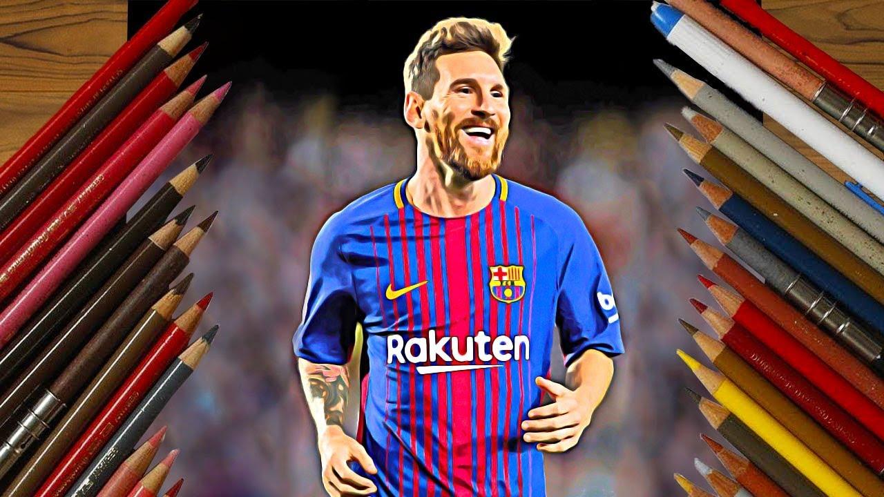 1280x720 Footballer Drawings 2018 Messi, Ronaldo, Neymar Etc.
