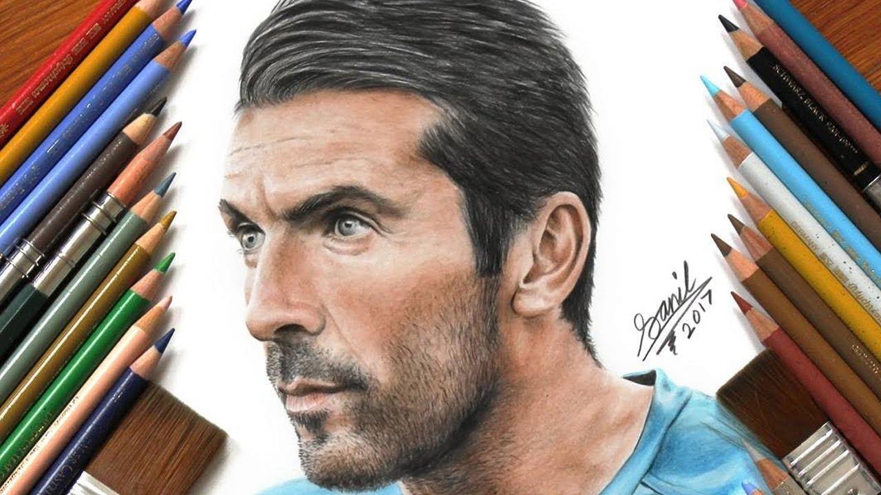 1280x720 Footballer Drawings Ft Ronaldo, Pogba, Buffon, Lewandowski