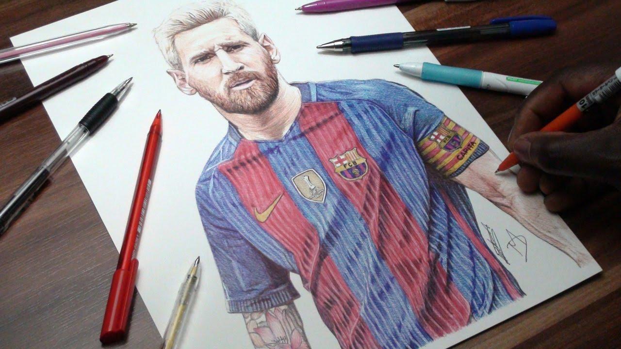 1280x720 Footballer Drawings Ft.ronaldo,messi,ronaldinho,ibrahimovic