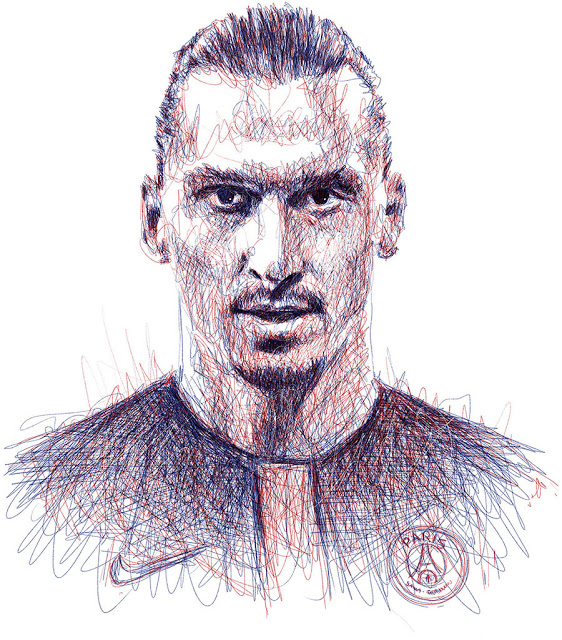562x640 Footballer Scribbles That Are Nothing Short Of Spectacular