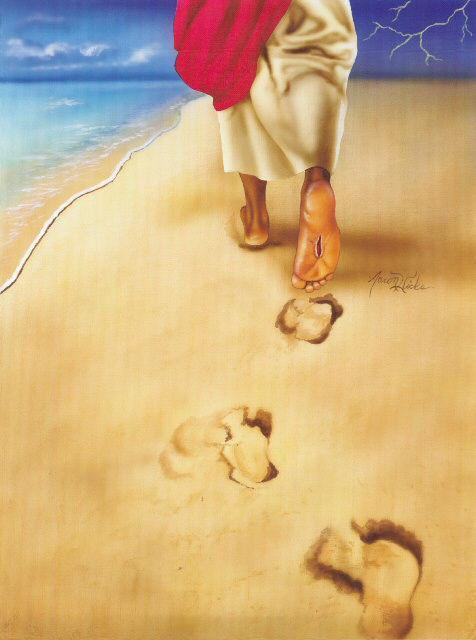 476x640 Footprints Of Jesus By Aaron And Alan Hicks The Black Art Depot