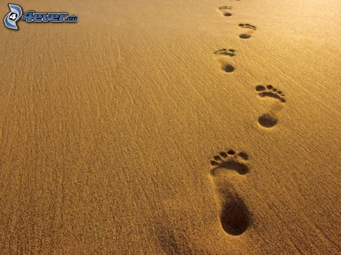 674x505 Foot prints in sand pictures Footprints In The Sand Diy