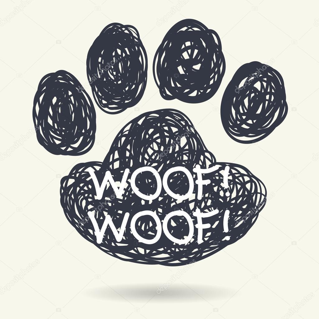 1024x1024 Dog Footstep. Stock Vector Tashanatasha