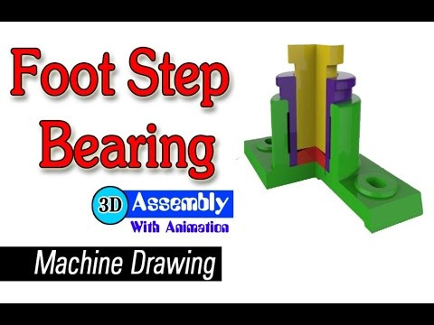 480x360 Machine Drawing Foot Steps Bearing Parts Introduce Amp Its Assembly
