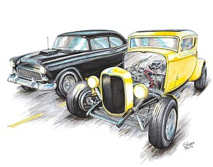 300x236 32 Ford Drawings Fine Art America