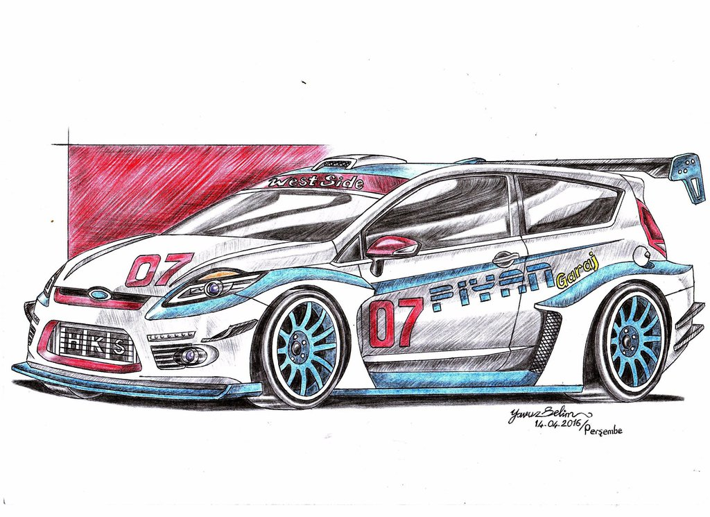 1024x745 Ford Fiesta Wtcc Modified Drawing. By Yavuzselim07