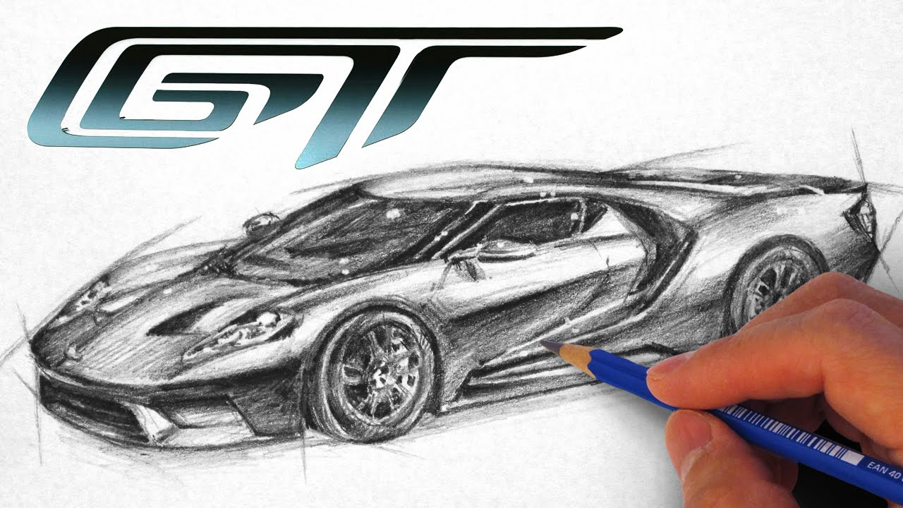 1280x720 How To Draw The Ford Gt 2017