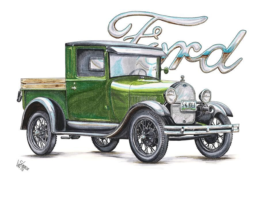 900x707 Model A Ford Line Drawings Old Ford Truck Drawings Cards I