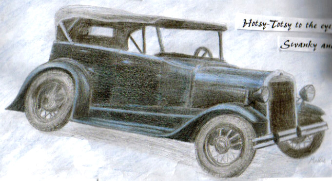 681x373 Old Drawing Model T Ford By Webwingz