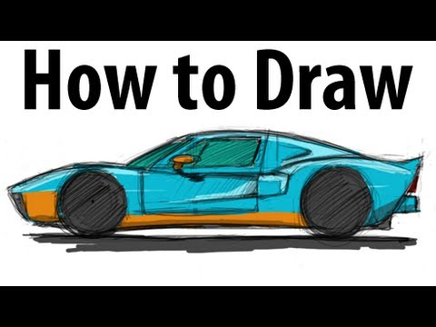 480x360 How To Draw A Ford Gt
