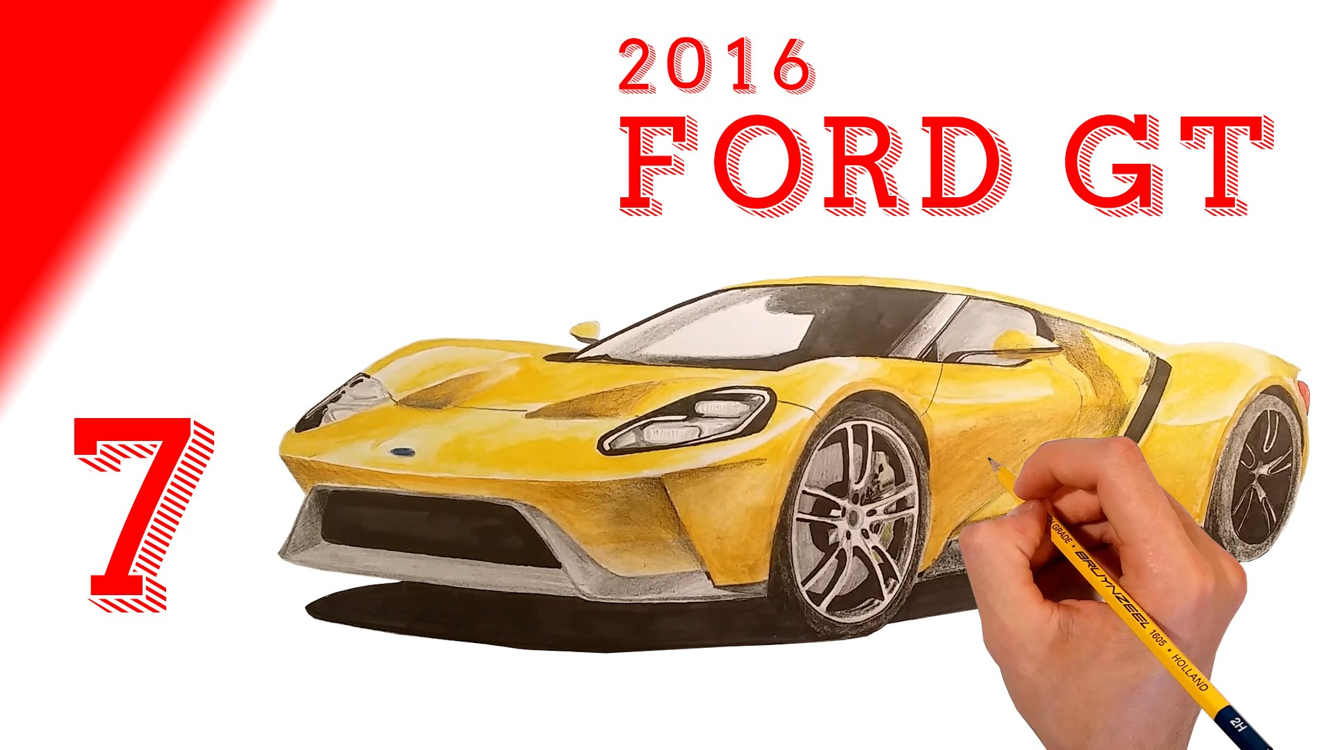 1920x1080 Drawing 2016 Ford Gt