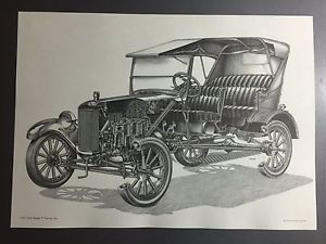 300x225 1925 Ford Model T Touring Automobile Technical Illustration