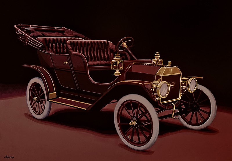 800x558 Ford Model T Touring 1908 Painting Canvas Prints By Paulmeijering